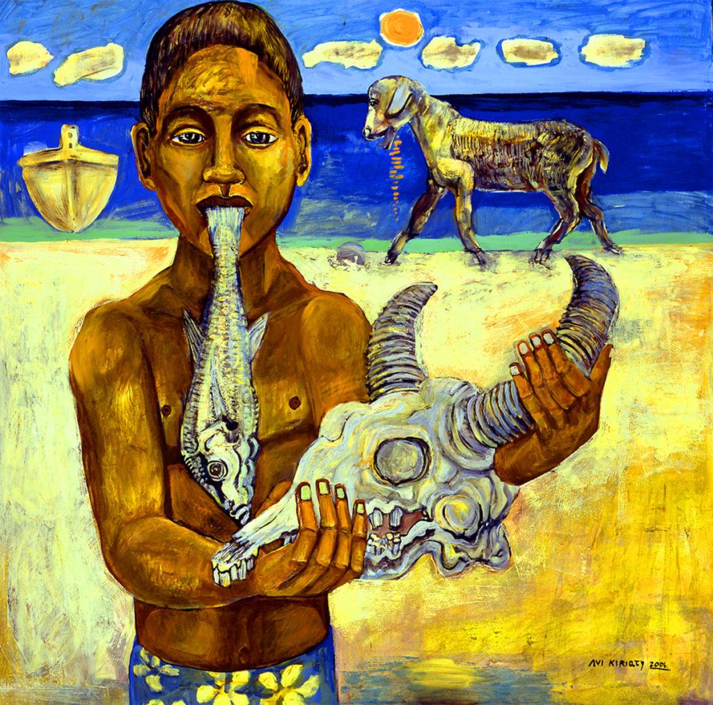 Boy Holding Skull