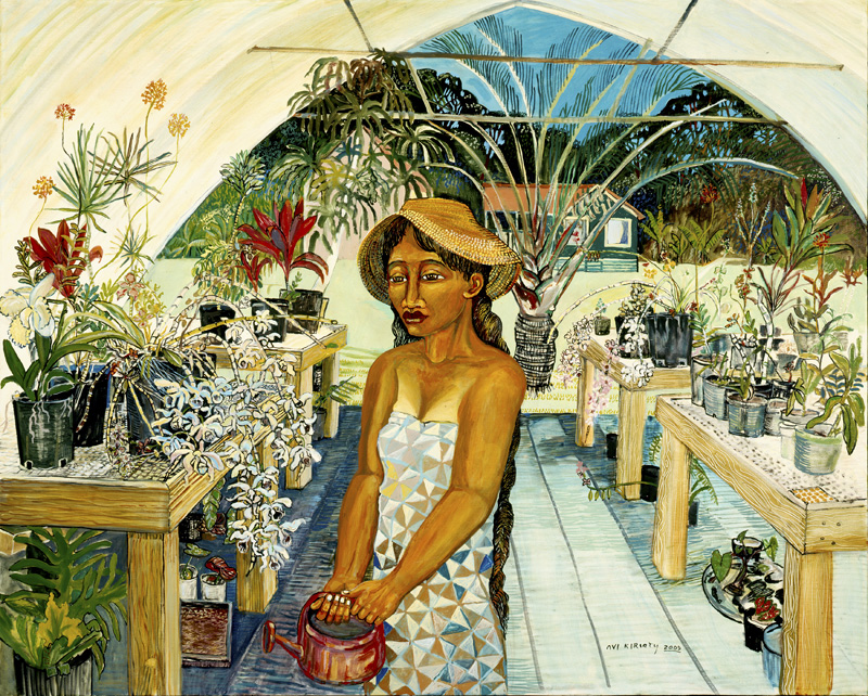 <h6>Green House Lady <br>&nbsp;&nbsp;  <br>&nbsp;&nbsp;          <br>&nbsp;&nbsp;   Size: 40 x 50