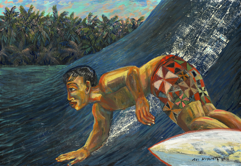 <h6>Jungle Surf <br>    <br>            <br>     Size: 24 x 36  </h6>