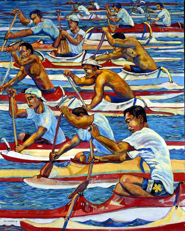 <h6>One Man Canoe Race <br>&nbsp;&nbsp;  <br>&nbsp;&nbsp;          <br>&nbsp;&nbsp;   Size: 40 x 32  </h6> <br>&nbsp;&nbsp;  <br>&nbsp;&nbsp;          <br>&nbsp;&nbsp;  $ 1,500.00