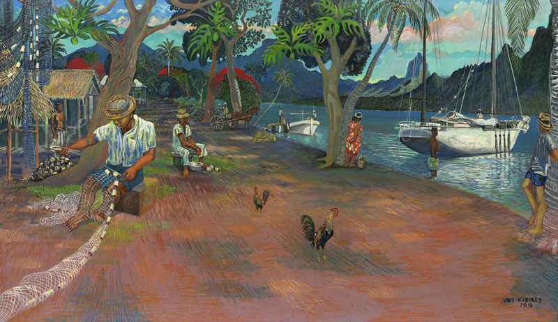 <h6>Pape Toai Bay <br>    <br>            <br>     Size: 44 x 76  </h6>