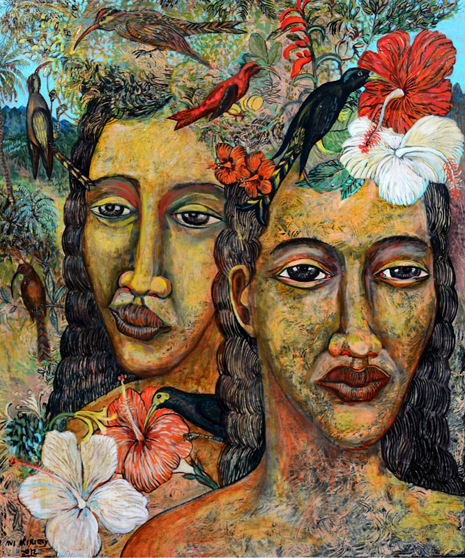 <h6>Pele and Hiiaka <br>    <br>            <br>     Size: 36 x 30  </h6> <br>    <br>            <br>    $ 3,000.00