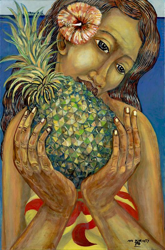 <h6>Pineapple Kiss <br>&nbsp;&nbsp;  <br>&nbsp;&nbsp;          <br>&nbsp;&nbsp;   Size: 34 x 22.5  </h6> <br>&nbsp;&nbsp;  <br>&nbsp;&nbsp;          <br>&nbsp;&nbsp;  $ 1,500.00