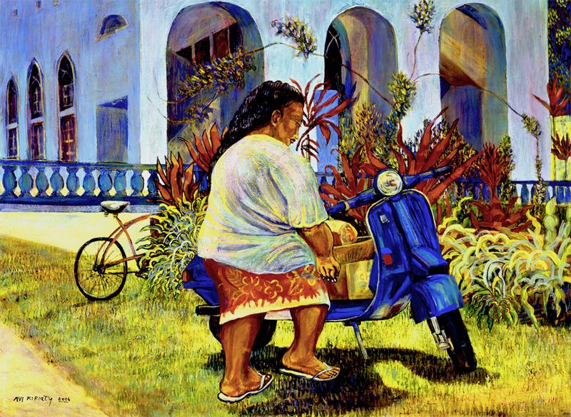 <h6>Raivavae Mama <br>&nbsp;&nbsp;  <br>&nbsp;&nbsp;          <br>&nbsp;&nbsp;   Size: 30 x 40  </h6>