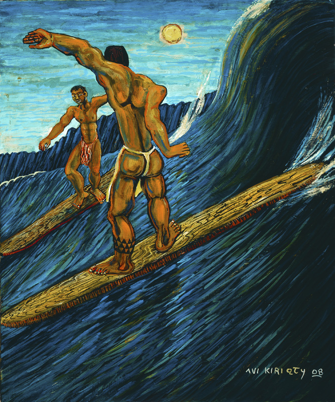 <h6>Surfing by the Pali <br>    <br>            <br>     Size: 24 x 20  </h6>