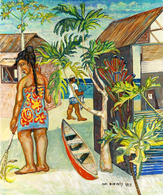 <h6>Tuamotu Canoe <br>&nbsp;&nbsp;  <br>&nbsp;&nbsp;          <br>&nbsp;&nbsp;   Size: 36 x 30  </h6>