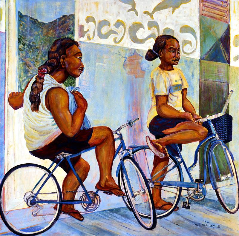 <h6>Wahine on Bikes <br>&nbsp;&nbsp;  <br>&nbsp;&nbsp;          <br>&nbsp;&nbsp;   Size: 40 x 40