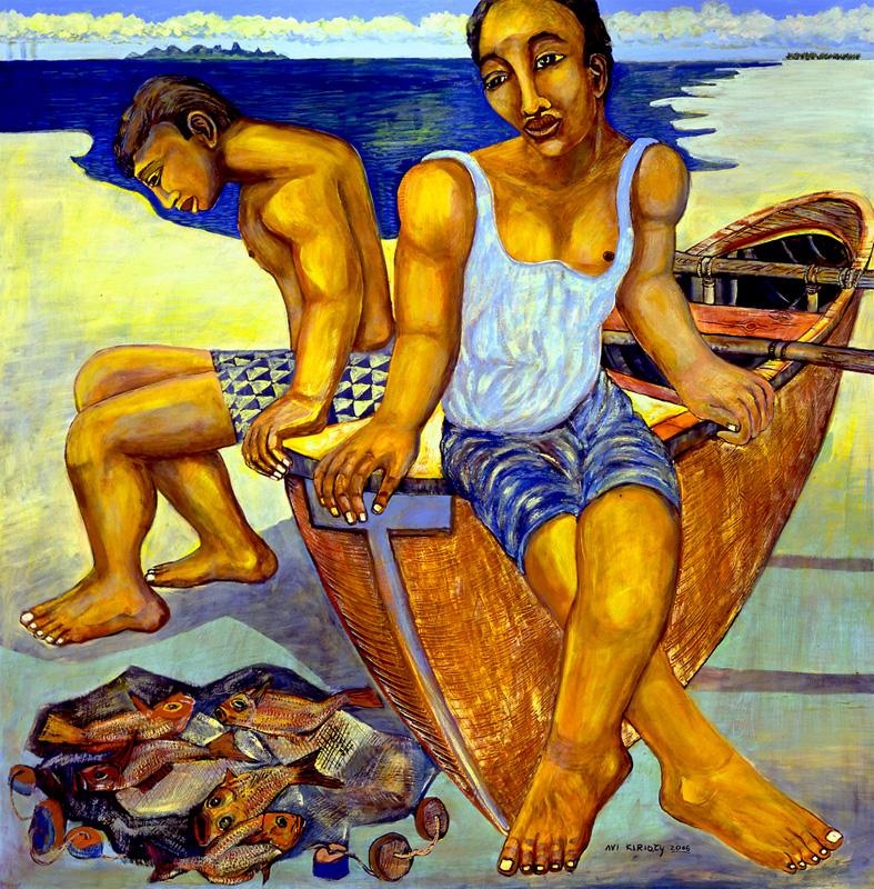<h6>Resting Fishermen <br>&nbsp;&nbsp;  <br>&nbsp;&nbsp;          <br>&nbsp;&nbsp;   Size: 38 x 38