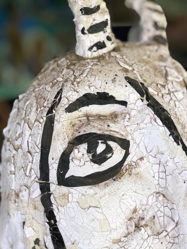 <h6>Ceramic Goat Sculpture