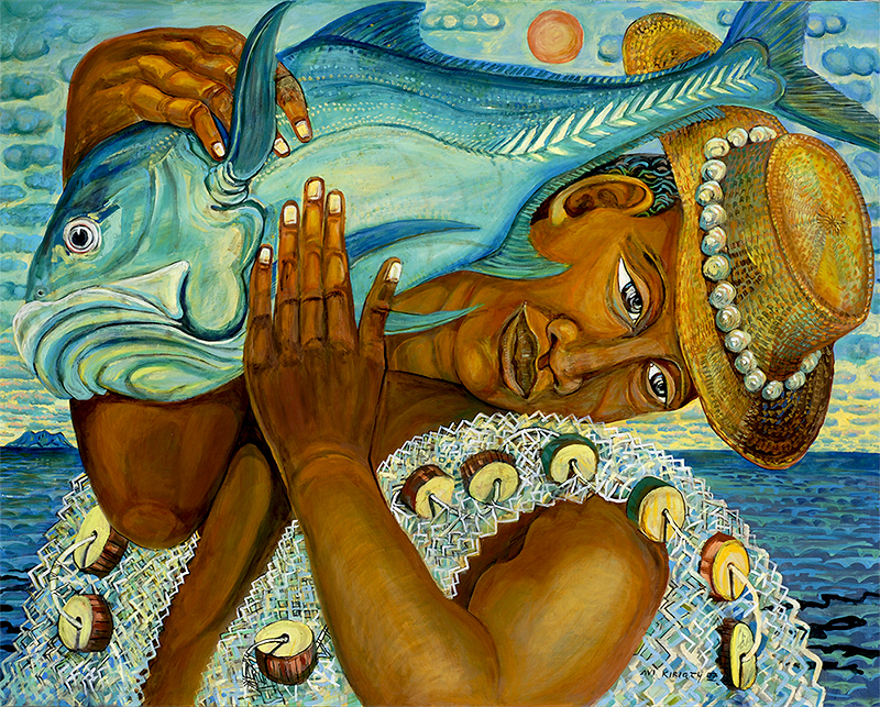<h6>Ikaika the Fisherman <br>    <br>            <br>     Size: 30 x 40  </h6> <br>    <br>            <br>    $ 1,500.00