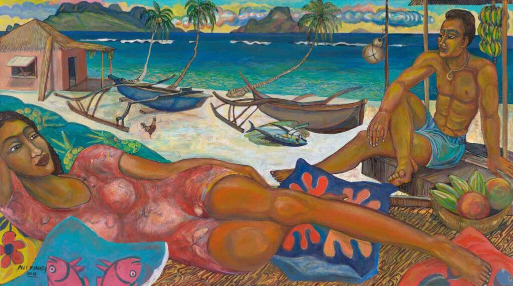 <h6>Island Dreamers <br>&nbsp;&nbsp;  <br>&nbsp;&nbsp;          <br>&nbsp;&nbsp;   Size: 36 x 64.5  </h6>