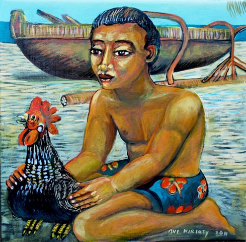 <h6>Little Boy With Rooster  </h6>&nbsp;&nbsp;&nbsp;&nbsp;&nbsp;&nbsp; &nbsp;&nbsp;&nbsp;&nbsp;&nbsp;&nbsp; <span> 17  x  17</span>